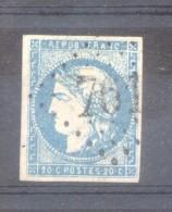 FRANCE AN 1870 CERES EMISSION DITE BORDEAUX  YVERT NR 44 B  AVEC 2 CERTIFICATIONS DE EXPERTS AU DOS - 1870 Emission De Bordeaux