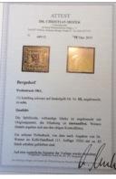 Bergedorf 1861 Mi. III RARITÄT ! FA MOZEK BPP: 1 1/2 Schilling Auf Dunkelgelb (Altdeutschland - Bergedorf
