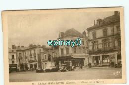 B - 72 - SABLE SUR SARTHE - Place De La Mairie - édition Gaby - Cliché RARE - Sable Sur Sarthe