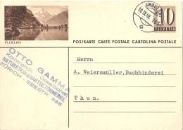 "PK 163  ""Flüelen""          1948 - Interi Postali"