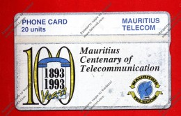 "MAURITIOUS: MAU-14 ""Mauritious Telecom Centenary"" 20 Units CN:310A UNUSED With Fault - Mauritius"