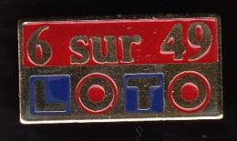 1 PIN'S NEUFS N° 19 FDJ - F.D.J. - LOTO 6 SUR 49 DANS SA POCHETTE D'ORIGINE - FRANÇAISE DES JEUX - LOTERIE... - Lots