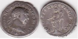 TRAJAN 98-117 DENIER R/l'équité 3,35gr (voir Scan) - 3. Les Antonins (96 à 192)