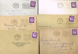 BR 1297 LOT BRIEVEN STEMPELS + VLAG ZIE SCANS - Lettres & Documents
