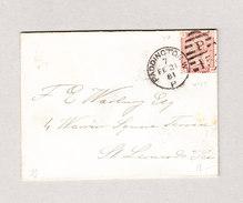 GB 1861 PADDINGTON 21.2.1881 Mit 1 Penny Brief Nach St Leonards A/sea - 1840-1901 (Victoria)