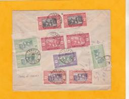 1926 - Enveloppe PAR AVION De Rufisque, Sénégal Vers St Etienne Via DAKAR Par Ligne Mermoz - Paire De Timbres En Carnet - Storia Postale