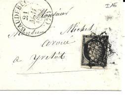 Caudebec Grille Sur N°3 Cd Type 131849 - 1849-1850 Ceres