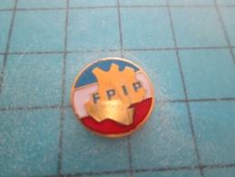 PIN515b Pin´s Pins /    POLICE : Mini Pins FPIP CARTE DE FRANCE SUR FOND TRICOLORE FPIP : Fédération Professionnelle Ind - Polizia