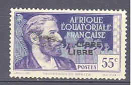A.E.F.:Yvert N° 132a**; Variété Double Surcharge - Neufs