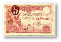 FAMALICÃO ( Vila Nova ) - Cédula De 5 Centavos - M. A. 2410 - Portugal - EMERGENCY PAPER MONEY - NOTGELD - Portugal