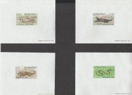 LAOS  1967  PROOF / EPREUVE  REPTILES  SCOTT N° 156/9  **MNH   Réf  E990 - Laos
