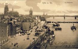 KÖLN A. Rh. Am Rheinufer  (1909), 2 Scans - Koeln