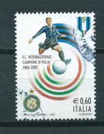 2007 Italy Inter Milan,voetbal,soccer,football Used/gebruikt/oblitere - 6. 1946-.. Republic