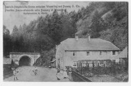 FRONTIERE FRANCO-ALLEMANDE ENTRE BUSSANG ET WESSERLING RESTAURATION A. MURA - Col De Bussang