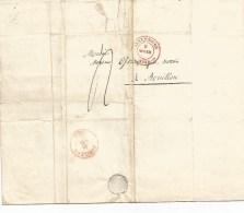 De LUXEMBOURG Vers BOUILLON  Du  9  Novembre  1842.  Lettre Complète En Bon état. - Errors & Oddities