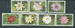 Kampuchéa  N° 863 A / G O : Flore Aquatique : Nénuphars,  Les 7 Valeurs Oblitérations Légères Sinon TB - Kampuchea