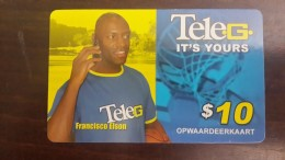 Surinam-(pc-ref--tel-022a)-francisco Elson-mobil Refil Card-10$-used Card+1card Prepiad Free