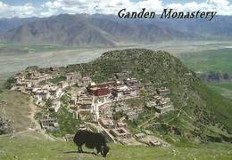 """AK  Tibet * Ganden Monastery * Ganden Ist Eines Der """" Drei Großen Klöster """" Der Gelug -Schule Des Tibetischen Buddhismus - Tibet"""