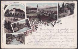 Gruss Aus Purgstall, Litho, Mailed In 1897 - Purgstall An Der Erlauf