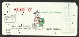 Portugal Facture Gaz Et électricité Carte Perforée Ordinateur IBM 1972 Gas & Electricity Bill IBM Computer Punched Card - Portugal
