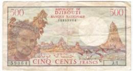 Djibouti  #36 Republique De Kjibouti Banque Nationale 500 Francs 1979 Banknote Currency - Djibouti