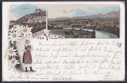 Gruss Aus Villach, Litho, Mailed In 1896 - Villach