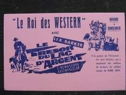 Buvard Cinéma , Le Roi Des Western , Lex Barker, Le Trésor Du Lac D'argent , Karl May , Année 1962 - Film En Theater