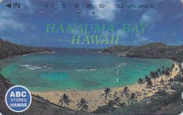 Télécarte Japon - Site HAWAII / Série ABC STORES - Baie HANAUMA BAY - Japan Phonecard USA Rel. Telefonkarte - 824 - Hawaii