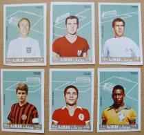 Ajman (6) Football Champions Rivera, Pele,Beckenbauer,Charlton ,Amancio, Eusebio 6 Stamps MNH Unperforated A 7,50 Euro - Soccer