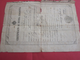1893 CERTIFICATO DI BUONA CONDOTTA FILLIOL GUISTO-BLANC GIUSTO  DI MANTOULLES LEGGERE E TRADURRE ITALIANO CERTIFICAT DE - Documents Historiques