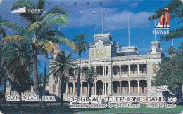 Télécarte Japon / 110-28506 - Site HAWAII / Série Logo ROI - IOLANI PALACE / OAHU - Japan Phonecard USA Rel. - 833 - Hawaii