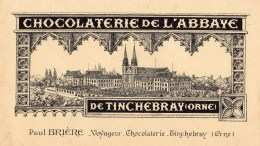 TINCHEBRAY -  Petit Buvard De La Chocolaterie De Tinchebray - 704 - Tarjetas De Visita