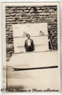 LE CHAMBOULE TOUT - LANCER DE BALLES - STAND DE TIR SUR DES CONSERVES - FETE FORAINE - CARTE PHOTO - Cartes Postales