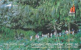 TC Japon / 110-29219 - Site HAWAII / Série Logo ROI - GROTTE DE FOUGERES - FERN GROTTO CAVE Japan Phonecard USA Rel 839 - Hawaii