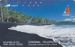 TC Japon / 110-29215 - Site HAWAII / Série Logo ROI - PLAGE DE SABLE NOIR - BLACK SAND BEACH Japan Phonecard USA Rel.841 - Hawaii