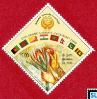 Sri Lanka Stamps 2008, 15th SAARC Summit Colombo, Flags, MNH - Sri Lanka (Ceylon) (1948-...)