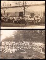 2 X FOTOKARTE SENNELAGER ( Padernorn ) - Deutsche Soldatenheim - Übungsplatz 1910 - ( Hohenzollernhaus ? ) - Militaria
