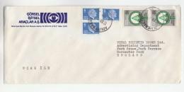 TURKEY  Illus ADVERT COVER Multi Stamps PROTECT TREE PLANTING Trees - 1921-... Republic
