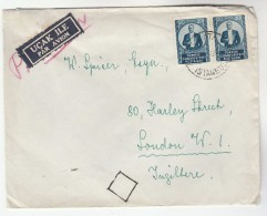 Air Mail TURKEY Stamps COVER To GB Airmail Label - 1921-... Republic