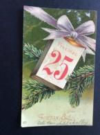 AK Weihnachten  25 PROSINAC Zweig Immergrüner Baum GEPRÄGT Ansichtskart  1908 - Weihnachten