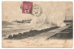 POST CARD OF COLOMBO - CEYLON - BREAKWATER , 1903 . - Sri Lanka (Ceylon)