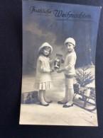AK Weihnachten MÄDCHEN Junge  Santa Claus Puppen Als Weihnachtsmann.Ansichtskart  1913 - Weihnachten