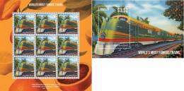 Tuvalu 2013, Trains, Sheetlet+BF - Tuvalu