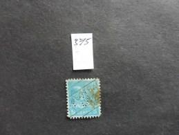 Etats-Unis :Perfins :timbre N°375  Perforé   GT  Oblitéré - Perforés