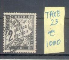 FRANCE TAXE ANS 1881-1892 TYPE DUVAL TYPOGRAPHIE YVERT NR. 23 OBLITERE AVEC 4 CERTIFICATIONS D'EXPERTS AU DOS VOIR SCANS - Service