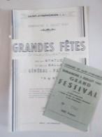 Saint Symphorien   Grandes Fetes Inauguration  Statue   General Patton   1949 - Programmes