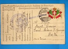 CARTOLINA POSTALE ITALIANA IN FRANCHIGIA -  SEZIONE FORNI CARREGGIATI.  Vedi Descrizione - 1900-44 Vittorio Emanuele III