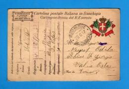 CARTOLINA POSTALE ITALIANA IN FRANCHIGIA -  1917 BATTAGLIONE AOSTA ZONA Di GUERRAI.  Vedi Descrizione. - 1900-44 Vittorio Emanuele III