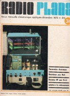 Radio Plans N°313 12/1973 Thermomètre électronique - Retardateur Pour Flash - Récepteur HF Pour B.L.U. - Radiocommande - Components