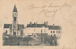 CPA 44 SAINT MARS LA JAILLE Rare Carte Précurseur L'Eglise Jour De Foire - France
